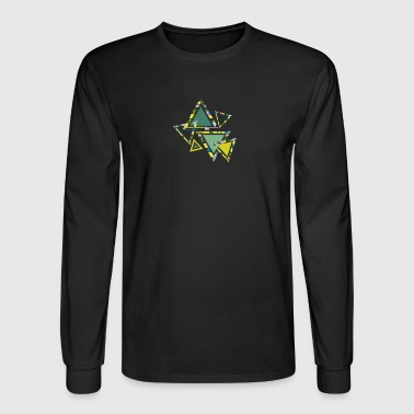 abstract triangles - Men's Long Sleeve T-Shirt
