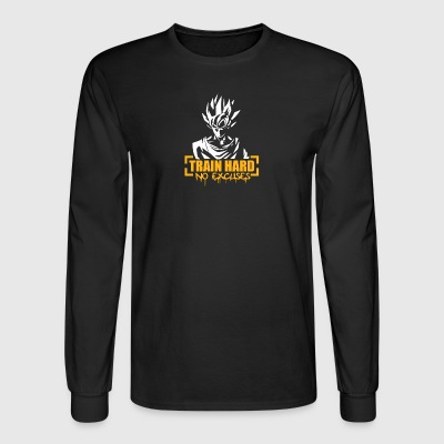 Goku Train Hard No Excuses - Men's Long Sleeve T-Shirt