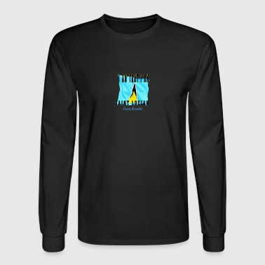 Saint Lucian Sticker - Men's Long Sleeve T-Shirt