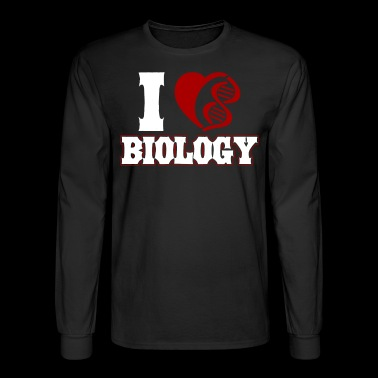 I Heart Biology Shirt - Men's Long Sleeve T-Shirt
