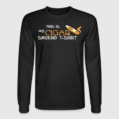 Cigar Smoking Shirt - Men's Long Sleeve T-Shirt