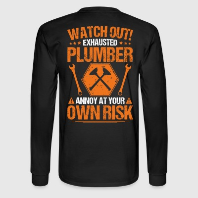 Plumber/Plumbing/Plunger/Watch Out/Gift/Present - Men's Long Sleeve T-Shirt