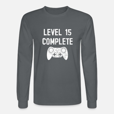 Yourself Level 15 Complete 15 Years Old Birthday Gamer Gift - Men's Longsleeve Shirt