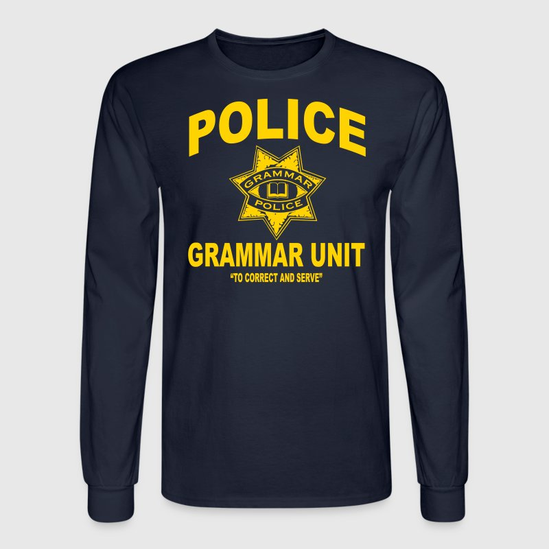 Grammar police - Men's Long Sleeve T-Shirt