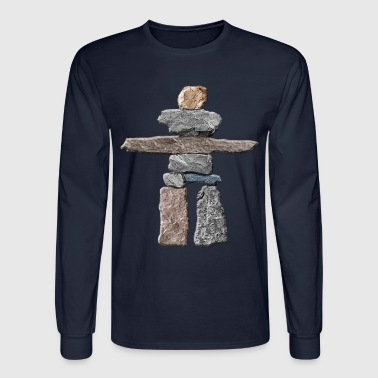 Native American Inukshuk  - Men's Long Sleeve T-Shirt