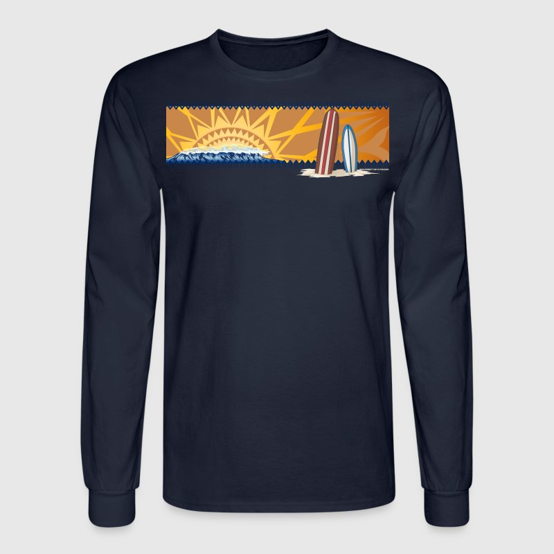 Surfboards in the sunset - Men's Long Sleeve T-Shirt