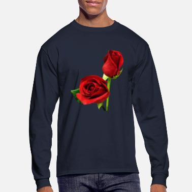 Rose Two Red Roses - Men's Long Sleeve T-Shirt