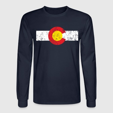 Vintage Colorado Flag - Men's Long Sleeve T-Shirt