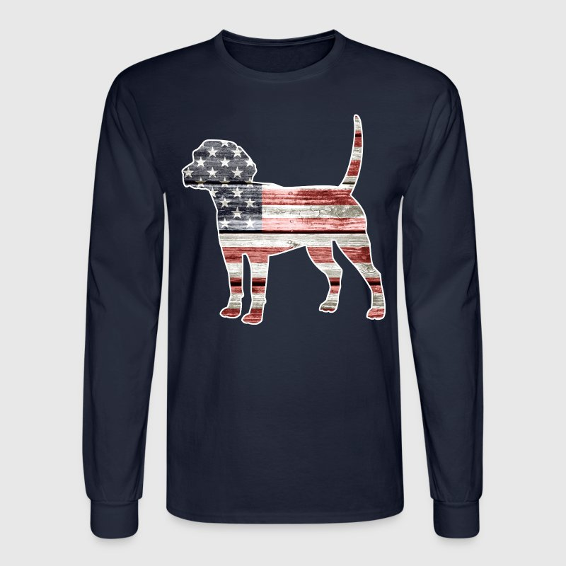Patriotic Beagle - Men's Long Sleeve T-Shirt