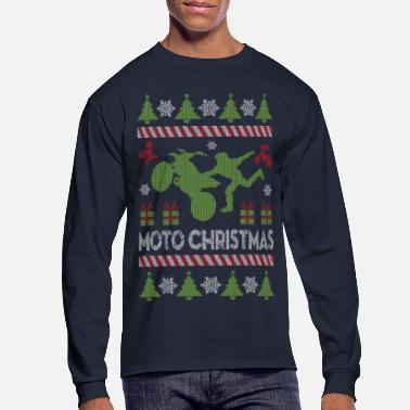 Motocross Motocross Ugly Christmas - Men's Long Sleeve T-Shirt