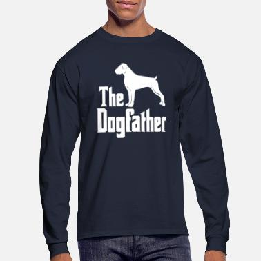 Silhouette The Dogfather Boxer Dog funny gift idea - Men's Long Sleeve T-Shirt
