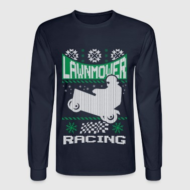 Lawnmower Ugly Christmas - Men's Long Sleeve T-Shirt