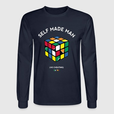 Rubik's Cube Self Made Man No Cheating - Men's Long Sleeve T-Shirt