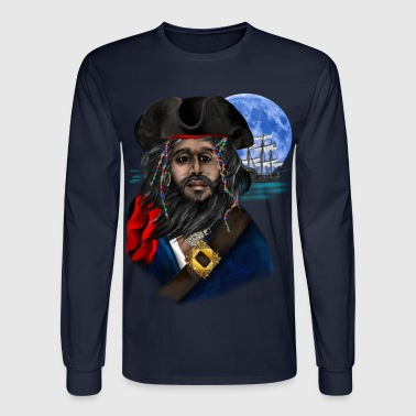 Pirate and Ship - Men's Long Sleeve T-Shirt