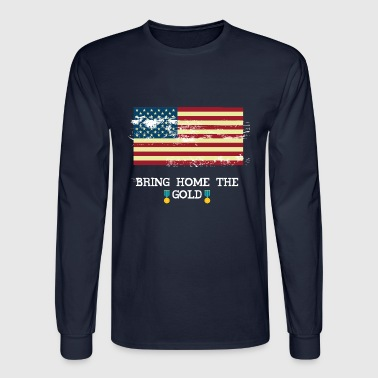 Bring The Home Gold American Flag Vintage - Men's Long Sleeve T-Shirt