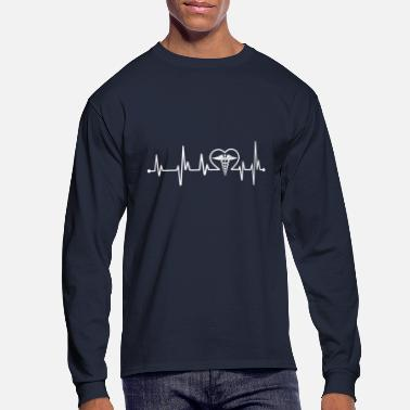 Doctors Doctor heartbeat - Men's Long Sleeve T-Shirt