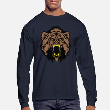 Teeth Rich Bear - Men's Long Sleeve T-Shirt
