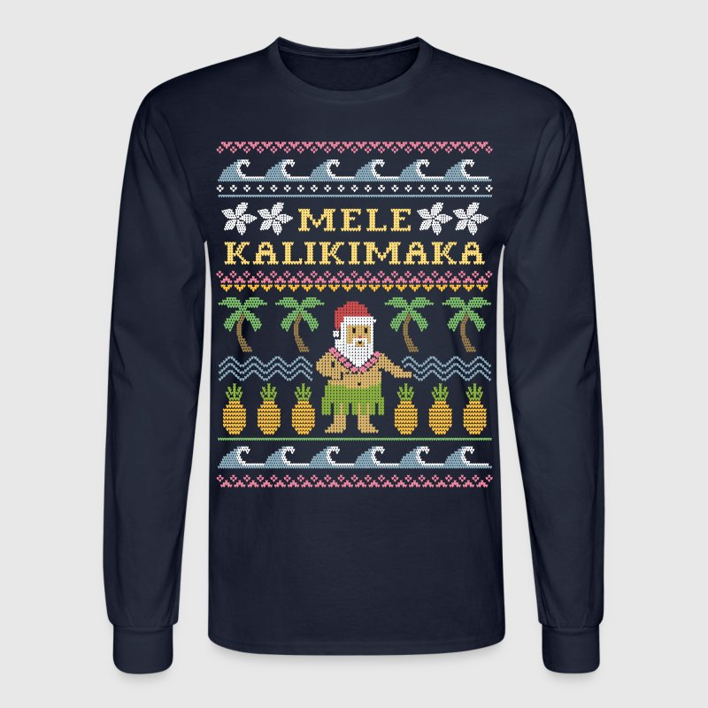 Mele Kalikimaka Christmas - Men's Long Sleeve T-Shirt
