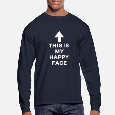 Happy Face Happy Face - Men's Long Sleeve T-Shirt