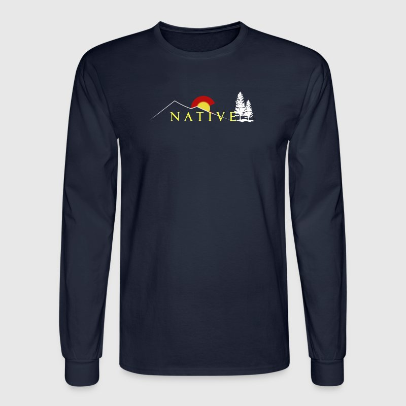 Colorado Native Logo - Men's Long Sleeve T-Shirt
