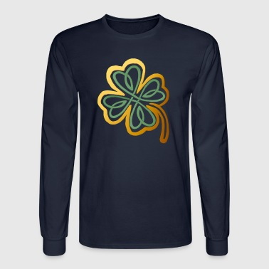 Green N Gold Shamrock   - Men's Long Sleeve T-Shirt