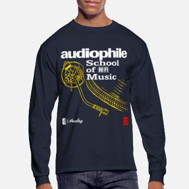 Black audiophile gold - Men's Long Sleeve T-Shirt