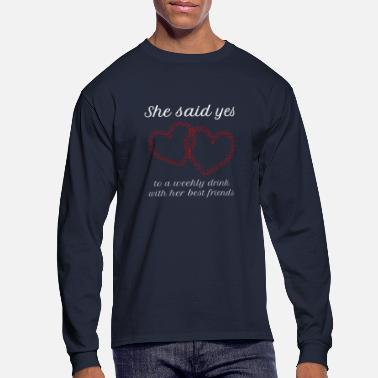 Bachelor Party bridesmaid bachelor party - Men's Long Sleeve T-Shirt