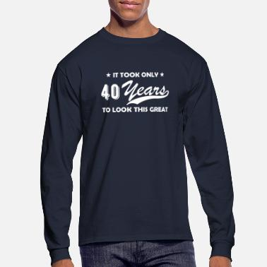 Forty 40 years old fortieth birthday gift round - Men's Longsleeve Shirt