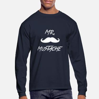Mustache Mr. Mustache [White] - Men's Longsleeve Shirt
