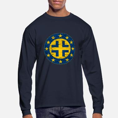 Eu EU Flag and German Cross - Men's Long Sleeve T-Shirt