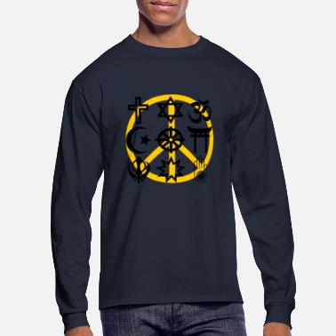 Sikhism World religions with peace symbol - Men's Long Sleeve T-Shirt