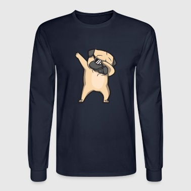 dabbing pug - Men's Long Sleeve T-Shirt