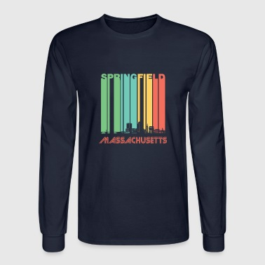 Retro Springfield Massachusetts Skyline - Men's Long Sleeve T-Shirt