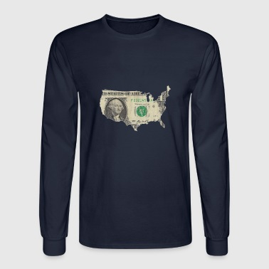 Its Good To Be The King USA dollar map - Men's Long Sleeve T-Shirt