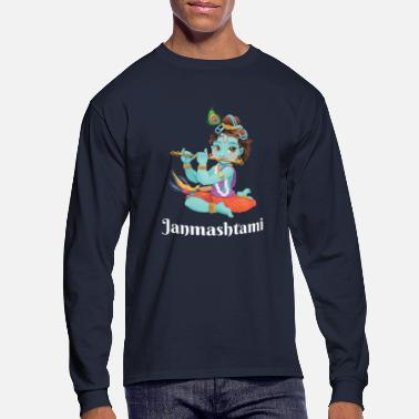 Religion Krishna Janmashtami Shirt Hindu Holiday T Shirt - Men's Long Sleeve T-Shirt