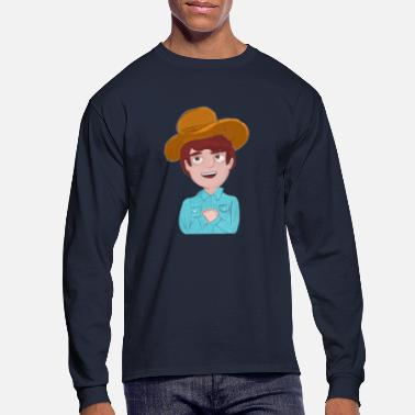 Cowboy COWBOY - Men's Long Sleeve T-Shirt