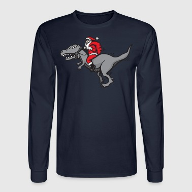 Santa Claus santa claus tyrannosaurus rex - Men's Long Sleeve T-Shirt