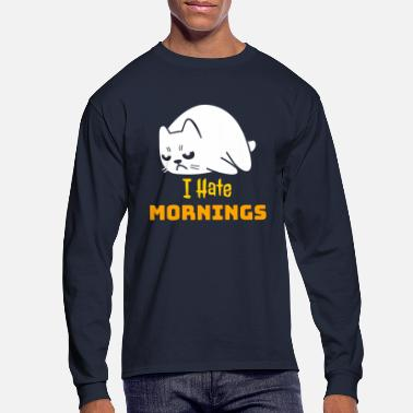 Grumpy In The Morning Grumpy Cat - I Hate Mornings - Men's Longsleeve Shirt