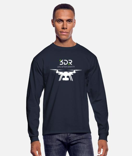 Solo Long-Sleeved Shirts - 3DR DRONE SOLO - Men's Longsleeve Shirt navy