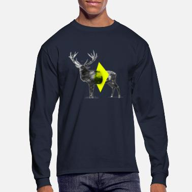Cut Out Cut Out Deer - Men's Longsleeve Shirt