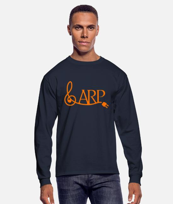 Music Long-Sleeved Shirts - arplogo - Men's Longsleeve Shirt navy