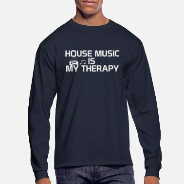 House House music is my therapy - Men's Longsleeve Shirt