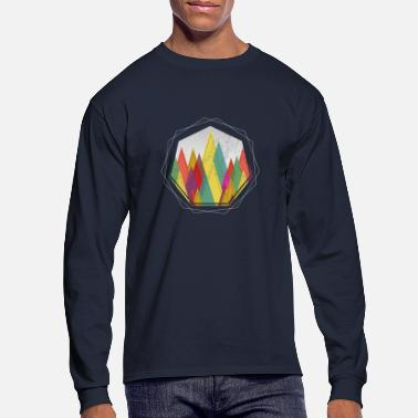 Forest Minimal Geometric Forest Outdoor Nature Gift - Men's Longsleeve Shirt