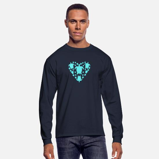 Sealife Long-Sleeve Shirts - Sea Turtle Sea Life - Men's Longsleeve Shirt navy