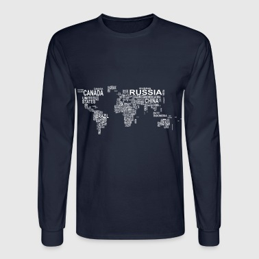 World Map - Men's Long Sleeve T-Shirt