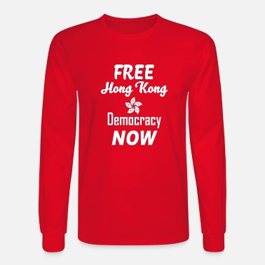 Free hong kong tee shirt - Men's Longsleeve Shirt