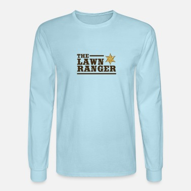 Grass Lawn Ranger Parody Funny Grass Cutting Lawn Enforcement - Men's Longsleeve Shirt