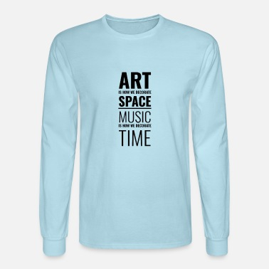 Typography Art & Music - Men's Longsleeve Shirt