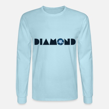 Brilliant cut blue diamond - Men's Longsleeve Shirt