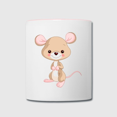 Cute Cartoon Mouse - Contrast Coffee Mug